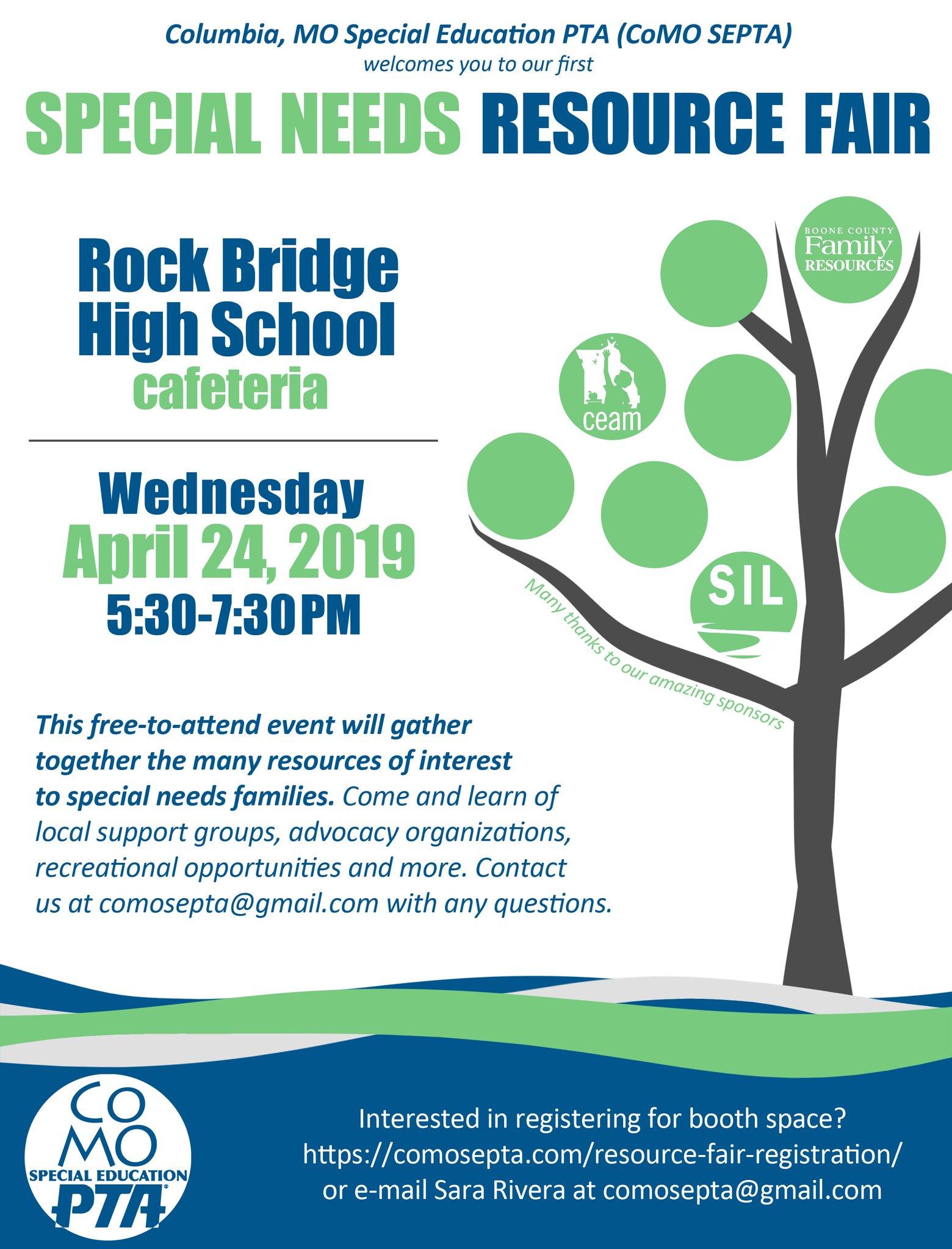 CoMO SEPTA Resource Fair @ Rock Bridge High School cafeteria